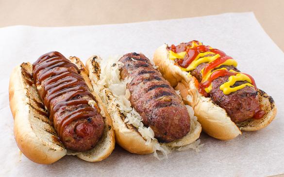 Hot Dog, Hamburger, Italian Sausage